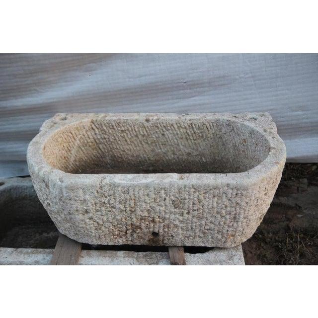 Rustic Stone Basin Planter - Image 2 of 3