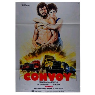 1970s Vintage Italian Convoy Movie Poster For Sale