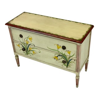 Royal Doulton Collection by Councill Painted Floral Chest For Sale