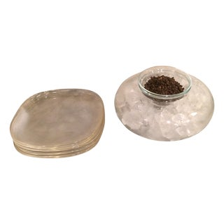 Caviar Chiller and Set of 12 Plates
