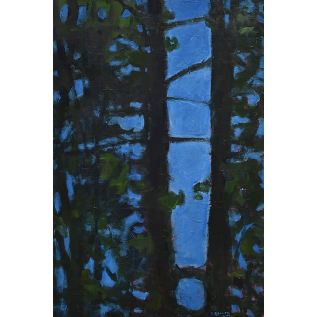 """""""Blue Punctuation"""" Abstract Painting For Sale - Image 10 of 10"""