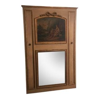 Antique Louis XVI Style Trumeau Mirror For Sale