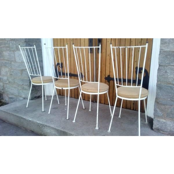 Mid-Century McCobb Style Wrought Iron Chairs - Set of 4 - Image 3 of 8