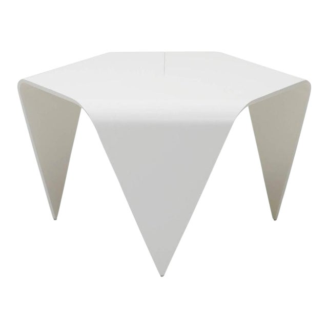 Authentic Trienna Table in White Lacquer by Ilmari Tapiovaara & Artek For Sale