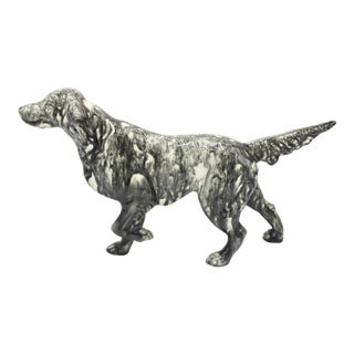Antique English Staffordshire Creamware Ceramic Sporting Dog For Sale