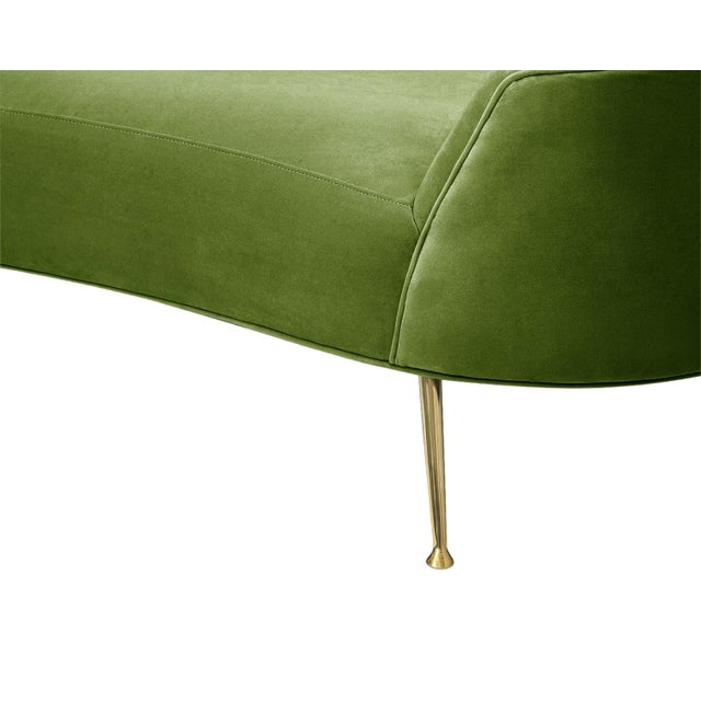 Pasargad Home Sorrento Collection Velvet Sofa, Green For Sale - Image 4 of 8