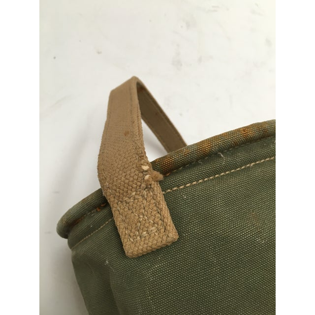 Vintage World War II 1944 Canvas Water Bucket For Sale In Dallas - Image 6 of 9