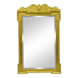 Vintage Friedman Brothers Historic Newport Collection Gold Wall Console Mirror For Sale