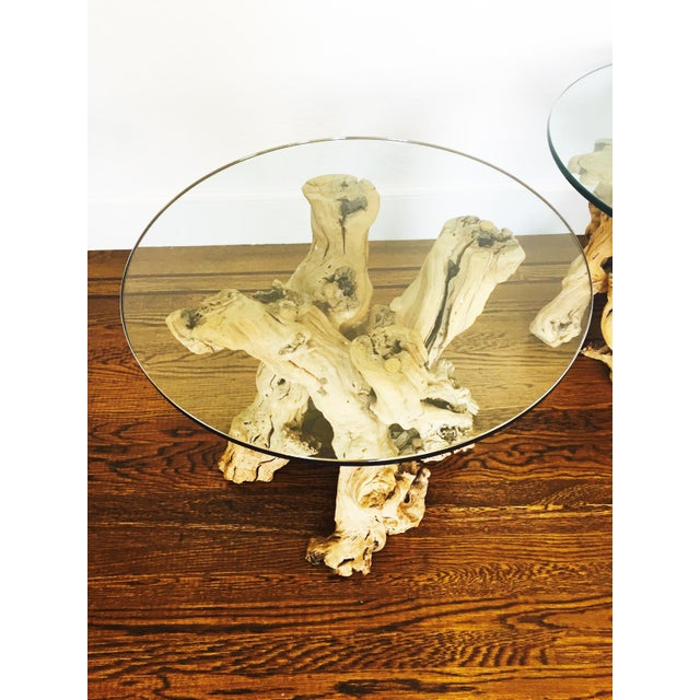 Vintage Grape Vine Side Tables - a Pair - Image 4 of 6