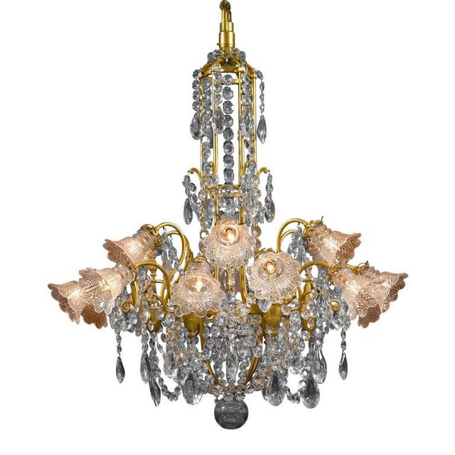 Mid 19th Century Eighteen-Light Baccarat Crystal Chandelier For Sale - Image 5 of 5