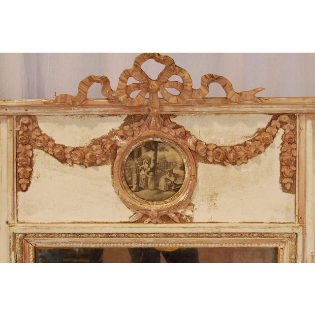 Mid 19th Century 19th Century French Laurel Trumeau Mirror For Sale - Image 5 of 7
