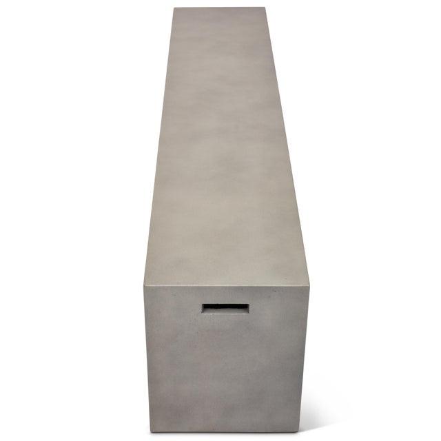 "Una 60"" Bench, Dark Grey For Sale - Image 4 of 5"