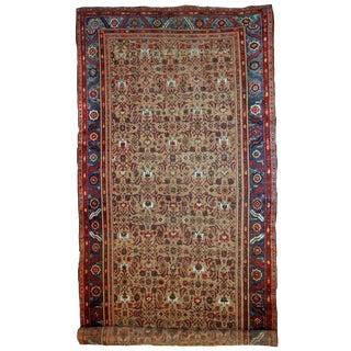 1880s Handmade Antique Persian Bakshaish Rug 8.5' X 17.8' For Sale