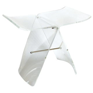 Lucite Butterfly Stool After the Original Bentwood Stool by Sori Yanagi For Sale