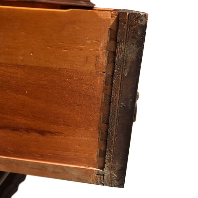 Brown Exceptional Antique Victorian Carved Mahogany China Curio Bookcase Cabinet For Sale - Image 8 of 11