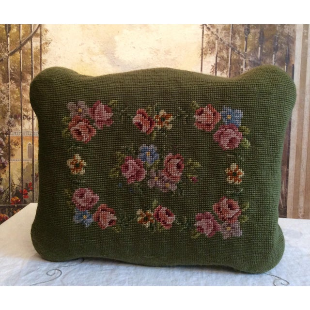 1930s Vintage Victorian Cast Iron Needlepoint Footstool For Sale In Columbus - Image 6 of 12