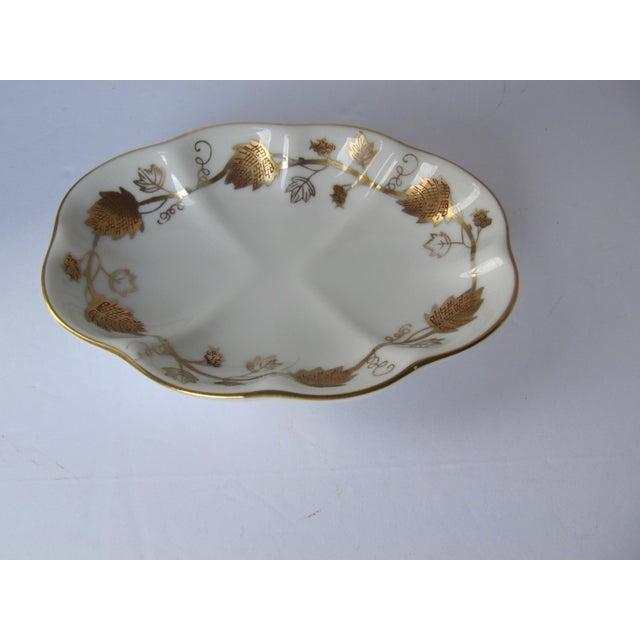 Vintage White & Gold Porcelain Soap Dish For Sale - Image 5 of 5