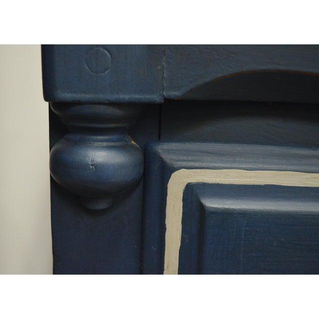 Mirrored 8-Drawer Navy Blue Dresser - Image 4 of 11