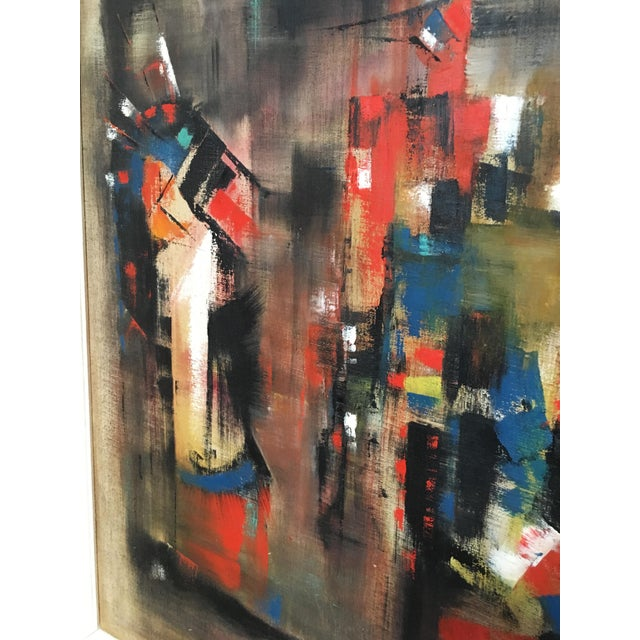 Abstract Oil Painting on Canvas Signed Wagner For Sale In Los Angeles - Image 6 of 9