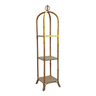 Italian Franco Albini Small Rattan Etagere For Sale