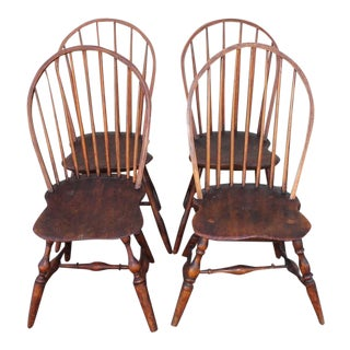 Set of Four Accumulated 19th Century Windsor Chairs For Sale