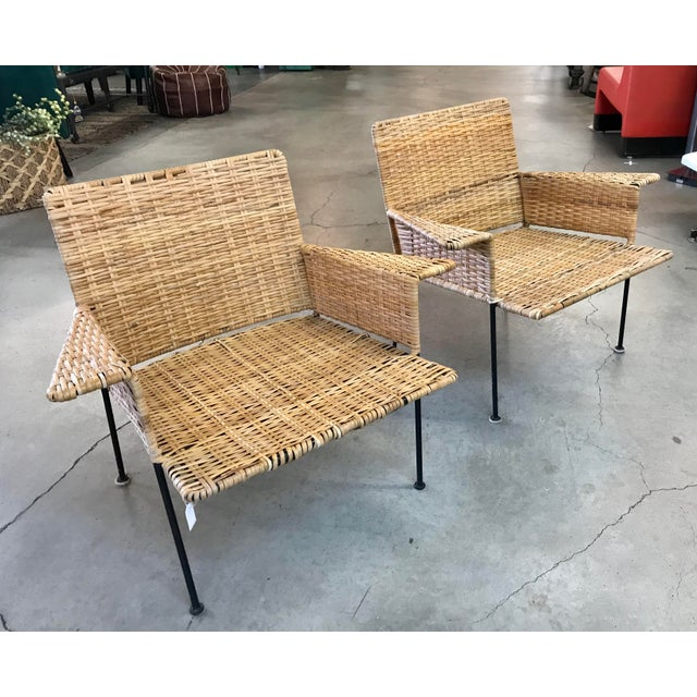 Van Keppel Green Rattan & Iron Chairs - A Pair - Image 11 of 11