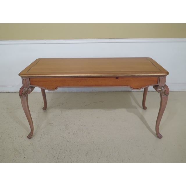 Brown 1990s Vintage Italian Style Paint Decorated Desk & Matching Chair For Sale - Image 8 of 13