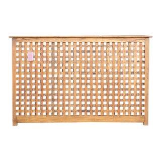 Burma Teak Lattice Console Table For Sale