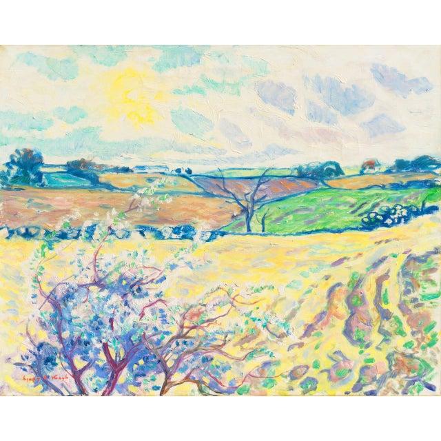 'Sunlit Spring Landscape', by Ejnar Kragh, Paris, Danish Post Impressionist For Sale - Image 10 of 10