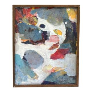 "Vintage ""Oregon Coast"" Abstract Mixed Media Painting"