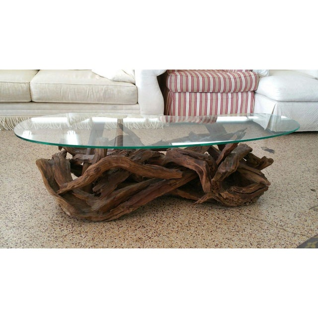 Modern 1970s Vintage Tangled Biomorphic Driftwood Cocktail Table For Sale - Image 3 of 6