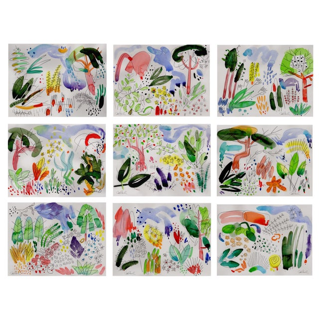 """English Garden Set of 9 8x10"""" Giclee Prints. For Sale"""