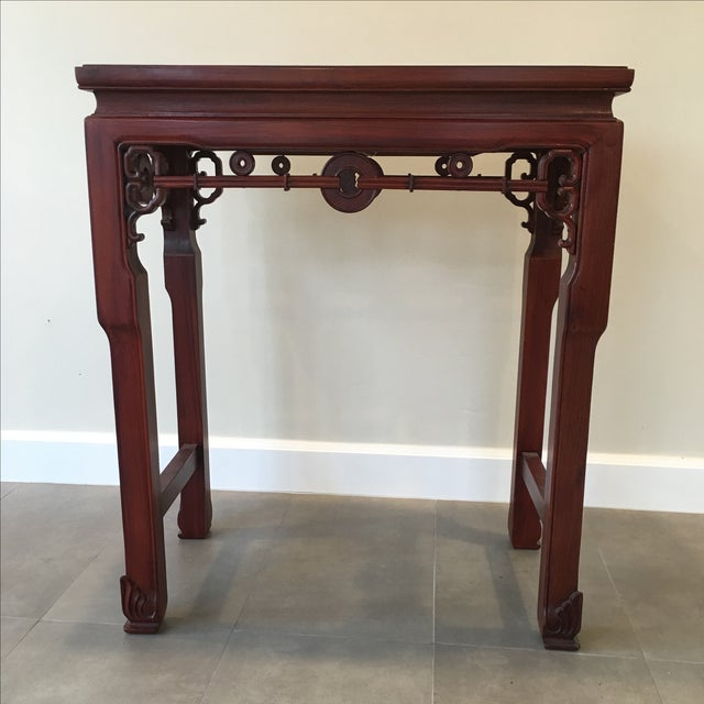Asian Carved Chinese Rosewood Alter Table For Sale - Image 3 of 11