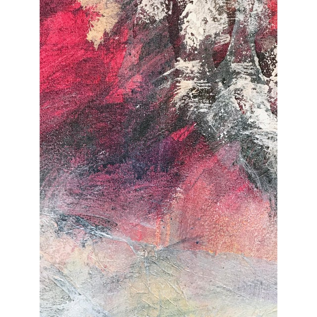 1980s Patricia Zippin 1980s Abstract Painting Spring Cherries I For Sale - Image 5 of 8