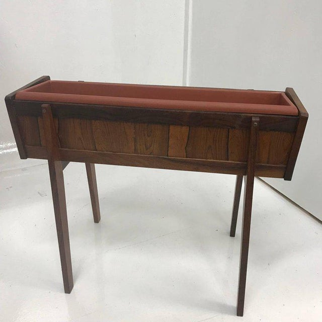 Mid-Century Modern Brazilian Rosewood Planter For Sale In San Diego - Image 6 of 6