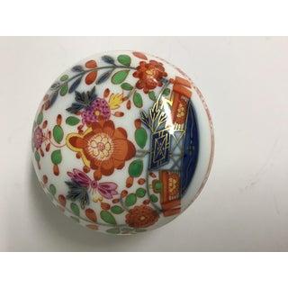 1910 Vintage Meissen Porcelain Commemorative Floral Trinket Box Preview