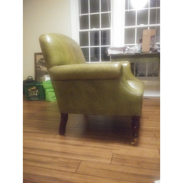 Leather George Smith Green Club Chair For Sale - Image 7 of 12