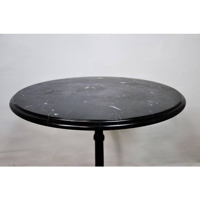 Italian Black Marble Bistro Table For Sale - Image 10 of 13
