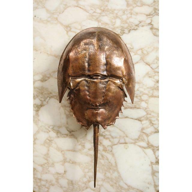 "Brass Bespoke ""Limule"" Horse Shoe Crab Bronze Sconce by Bernard Figueroa For Sale - Image 7 of 7"