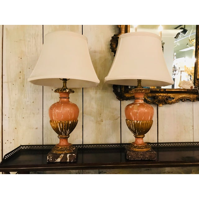Wood 19th Century Italian Lamps - a Pair For Sale - Image 7 of 7