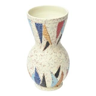 1960s Italian Ceramic Abstract Vase Mid Century Modern For Sale