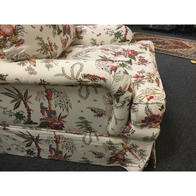 Vintage Toile Club Chairs - Pair - Image 7 of 7
