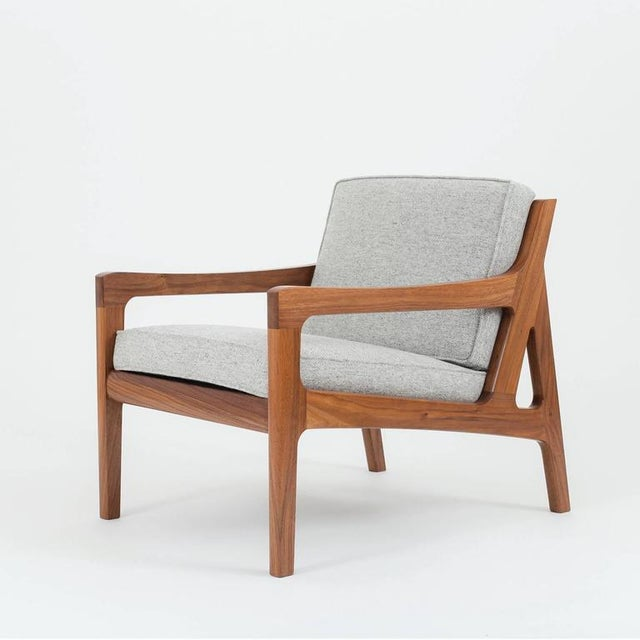 Wood Asa Pingree Pilar Lounge Chair in Ebonized Oak For Sale - Image 7 of 11