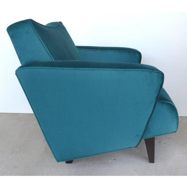 Mid-Century Modern Thayer Coggin Club Chairs in Velvet - A Pair For Sale - Image 3 of 10
