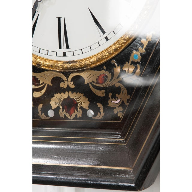 Mid 19th Century 19th Century French Boulle-Inlaid Hexagonal Wall Clock For Sale - Image 5 of 8