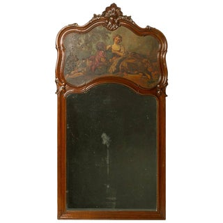 19th Century Louis XV Trumeau Mirror For Sale