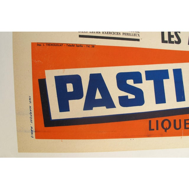 Country 1960s French Stock-Cars Racing Poster, Pastis 51 Liquor Advertisement. For Sale - Image 3 of 5