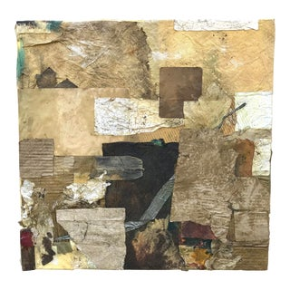 Abstract Modern Mixed Media Collage Painting For Sale