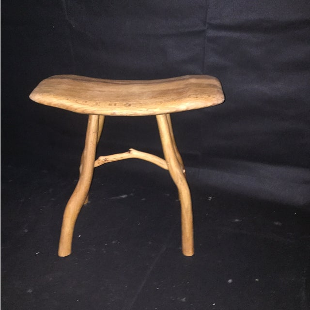 Rustic Natural Oak Small Bench - Image 6 of 6