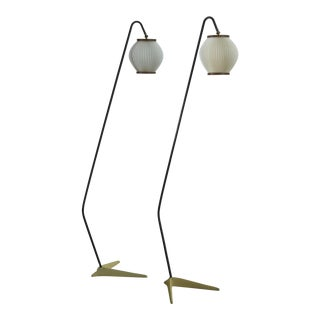 Svend Aage Holm Sørensen Pair of Floor Lamps, Denmark, 1950s For Sale